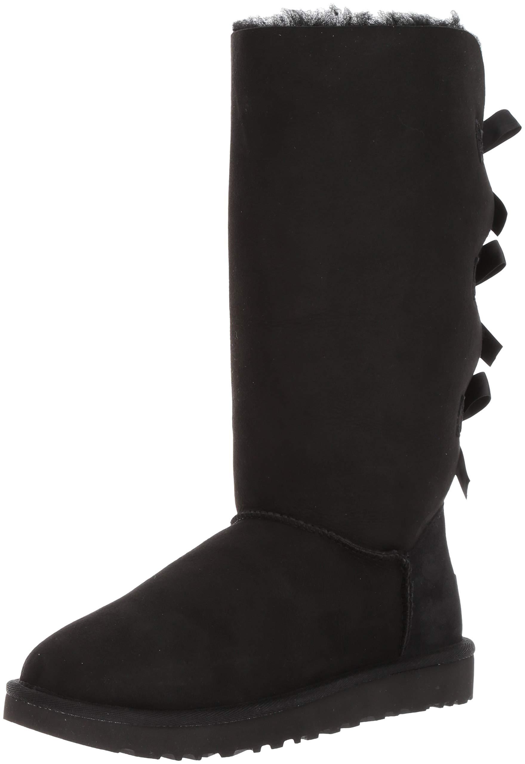 UGG Women's Bailey Bow Tall II, Black, 6 M US by UGG