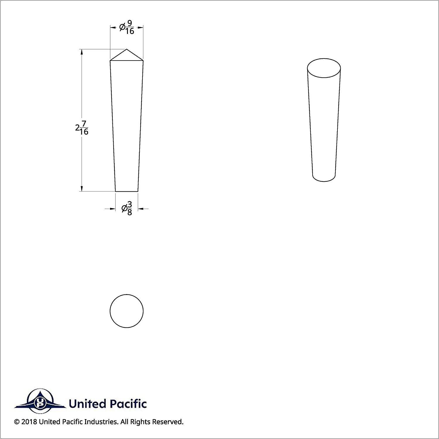 United Pacific 40048 Chrome Long Peterbilt Plastic Toggle Switch Extension