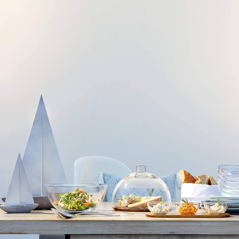 Leonardo 018519 Cucina Tabla para queso madera, incluye tapa de cristal, 2 unidades, di/ámetro de 280 mm