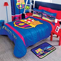 IN Barcelona Barca FCB Soccer Edredon Ligero Individual 2PC Futbol Cojines Decoracion Regalo EDICION Limitada