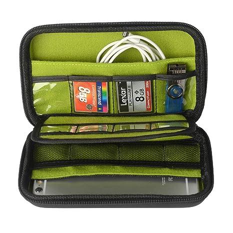 Accesorios Electrónica bolso, ZITFRI organizador de cables incluye tarjetas SD / tarjetas de memoria / unidades flash USB / disco duro externo