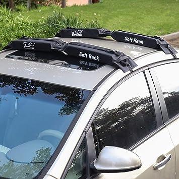 TIROL Universal Car Soft Roof Rack Portaequipajes Tabla de Surf Pad Dleboard Antivibración con Correas Plegables