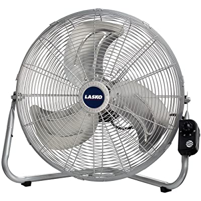 Lasko 2265QM 20-Inch Max Performance High Velocity Floor/Wall mount fan, Silver