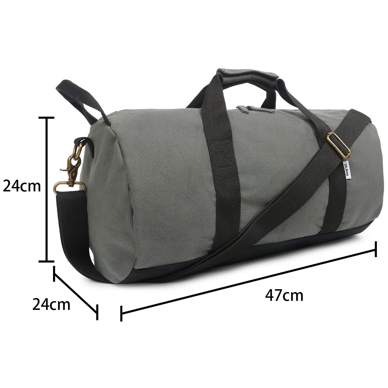 95c9027852 Oflamn Petit Toile Sac de Voyage pour Femmes et Hommes - Sac de Sport -  Small Travel Duffel Bag & Sports Gym Bag (1.0 Ensemble Gris): Amazon.fr:  Sports et ...