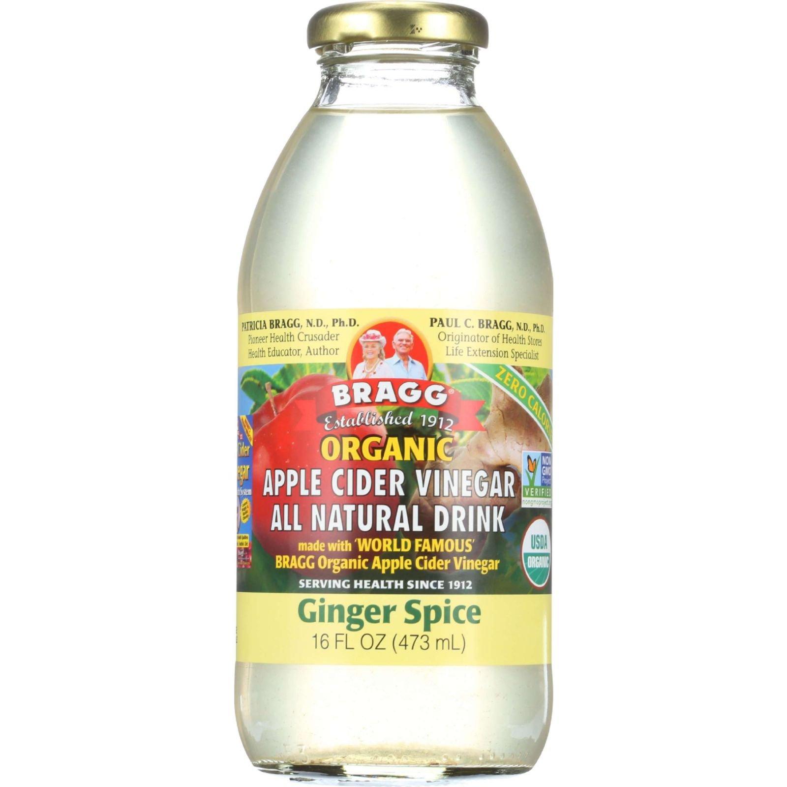 Apple Cider Vinegar Ginger Spice (12 Bottles) 16 Ounces by Bragg