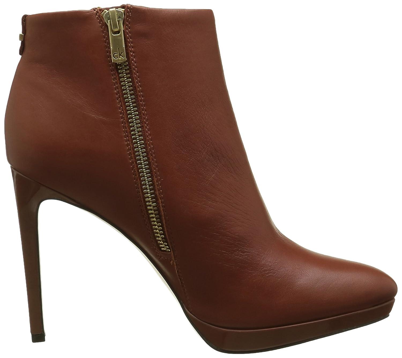 huge discount dda71 dc4c2 Calvin Klein Women's Sandria Polished Calf Ankle Boots