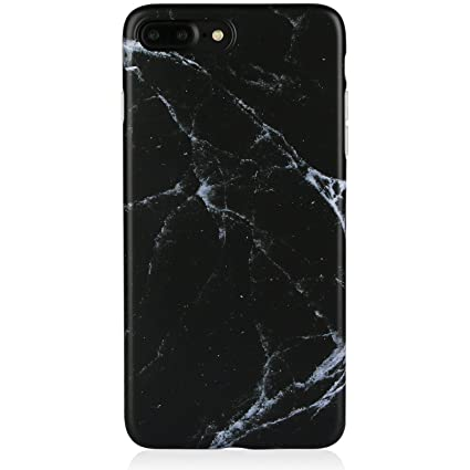 Marble iPhone 7 Plus 8 Plus Case Black for Men,DICHEER Ultra Thin Anti  scratch Protective Case,Flexible Smooth IMD TPU Soft Case Rubber Silicone  Skin