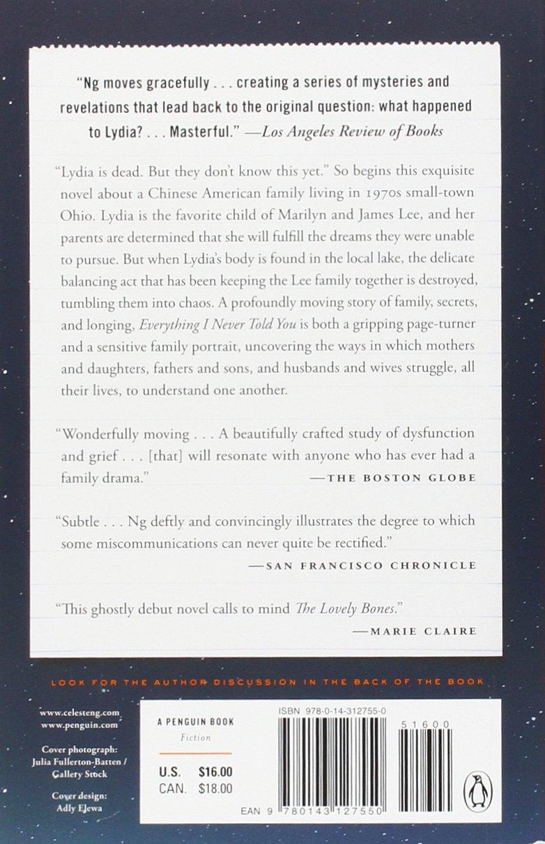 Everything I Never Told You: Amazon.es: Celeste Ng: Libros en ...