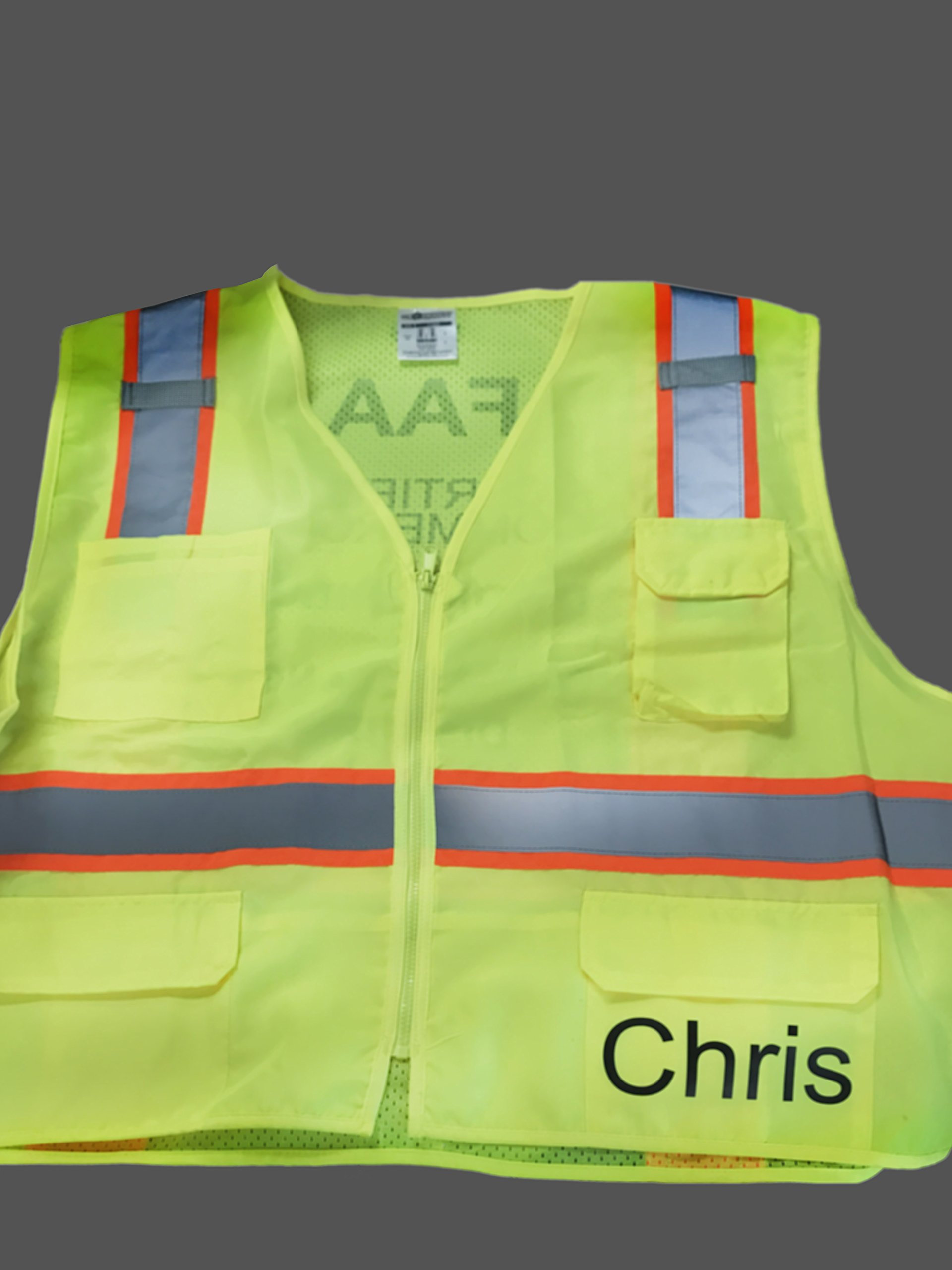 Custom Safety Reflective Mesh Vest with Zipper - Personalized Drone Pilot Vest by Safety Miracle (Image #8)