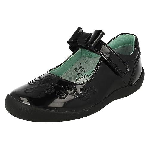 1e768ef5d1a Startrite Princess Elza Girls Black Patent School Shoes Junior 1 G Black  Patent