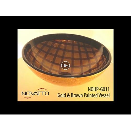 new Novatto GRATA Glass Vessel Bathroom Sink