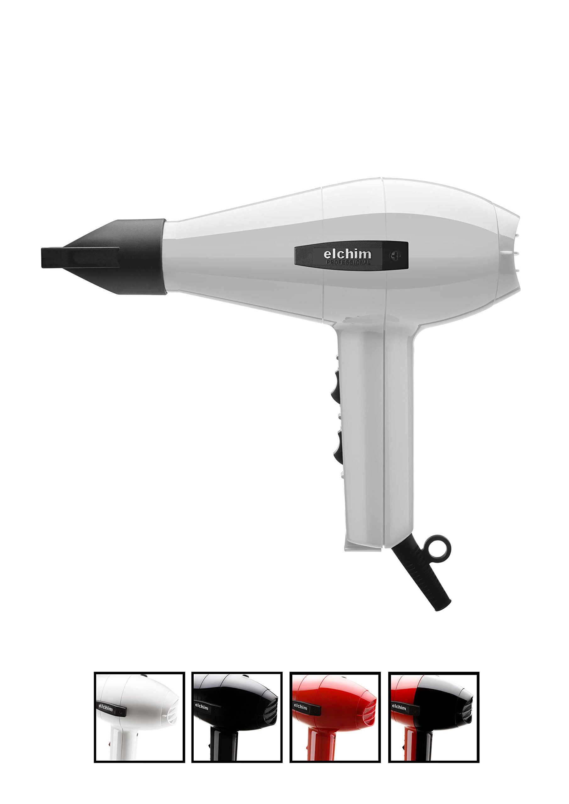 Elchim Classic 2001 Hair Dryer: Lightweight 1875 Watt Quick Dry Professional Salon Blow Dryer - 71cqewatP7L - Elchim Classic 2001 Hair Dryer, White