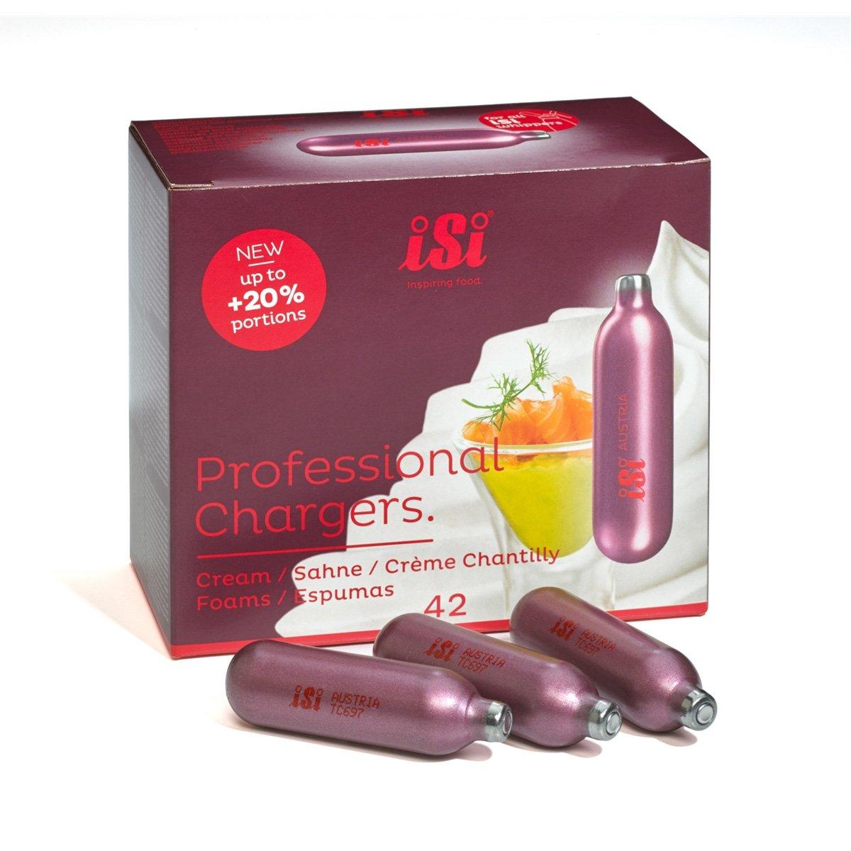 iSi Professional Chargers- Carton of 42-8.4 Gram Nitrous Cream Propellent (42)