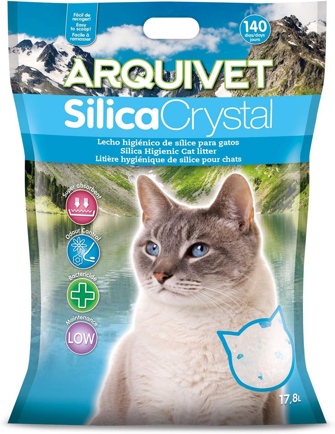 Arquivet arena gato Silica Crystal 17,8 L
