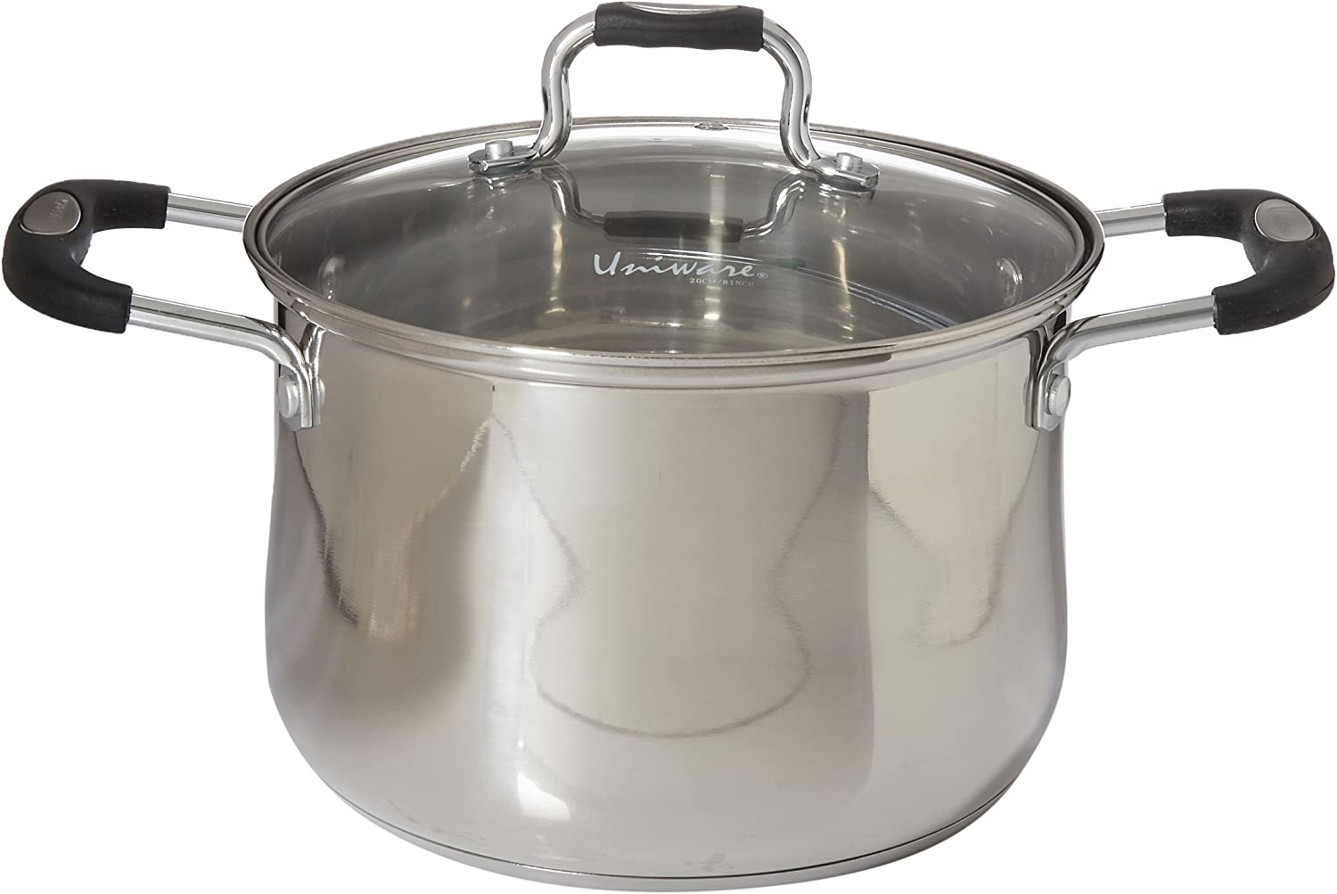 3.0 QT Uniware Stainless Steel Deep Sauce Pot With Lid,Oven Safe PTFE-PFOA-Free,Silver