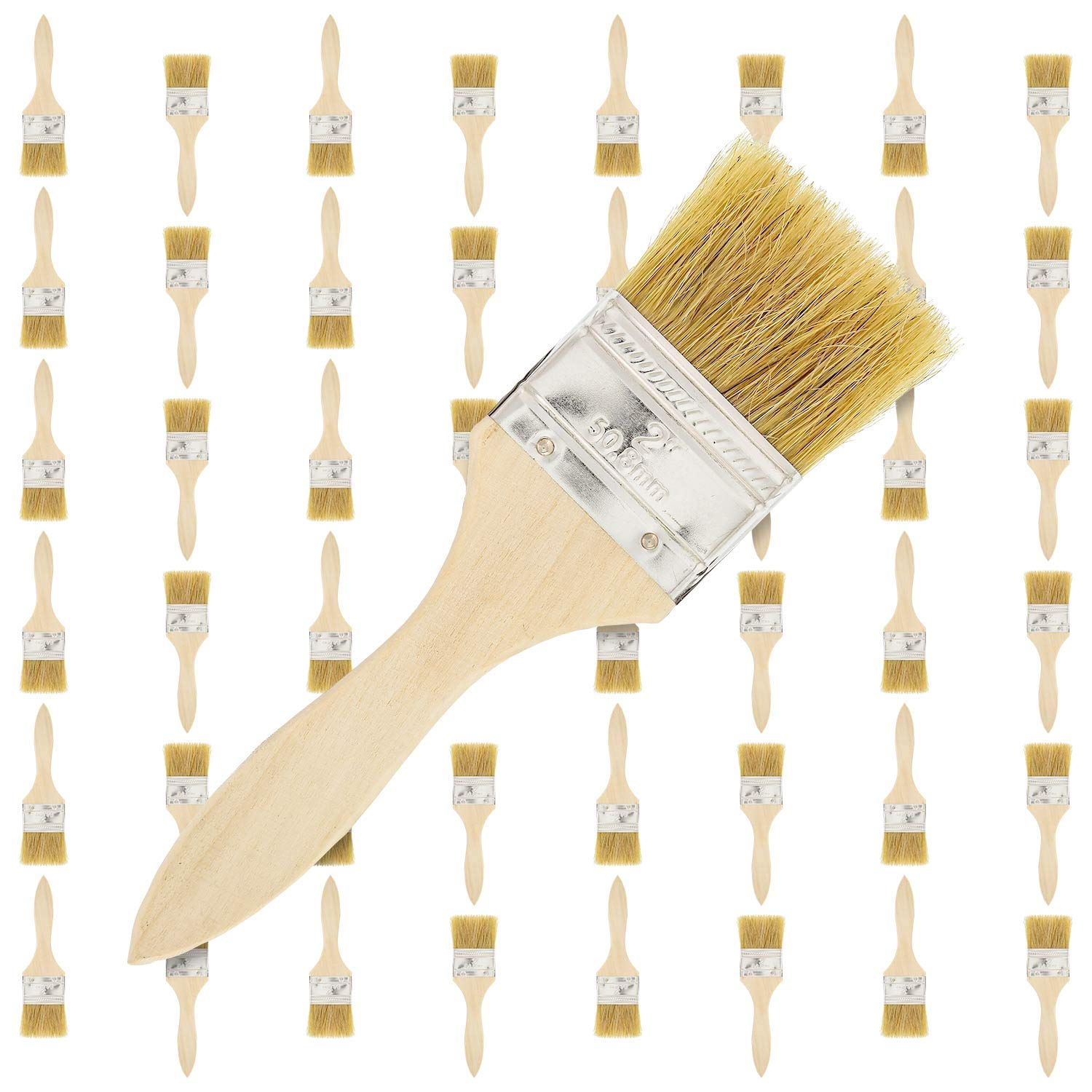 US Art Supply 48 Pack of 2 inch Paint and Chip Paint Brushes for Paint, Stains, Varnishes, Glues, and Gesso
