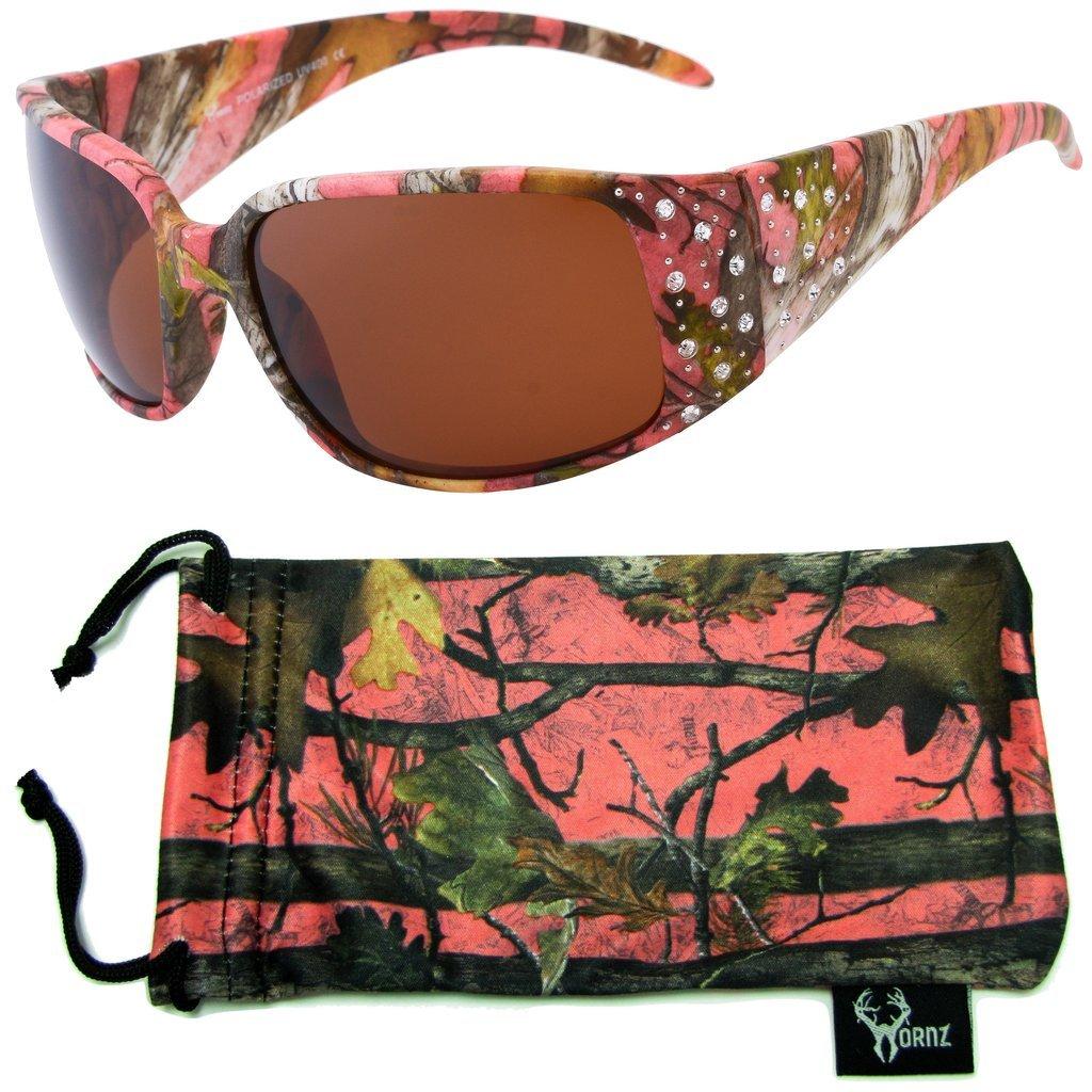 Hornz Rosa Camouflage polarisierten Sonnenbrillen Country Girl Style Camo & freie passende Beutel aus Mikrofaser lKCvQpu