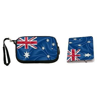 Rikki Knight Coral see Islands Flag Design Neoprene Clutch Wristlet with Matching Passport Holder