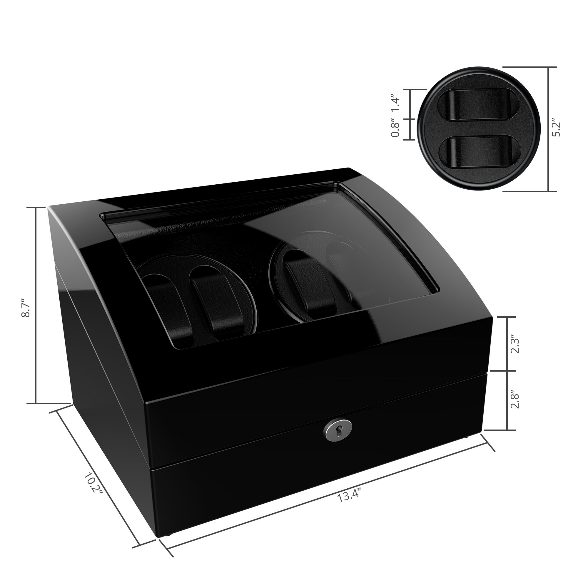 Watch Winder For Rolex Automatic Watches,Wood Shell + Piano Paint +Japanese Motor by TRIPLE TREE (Image #4)