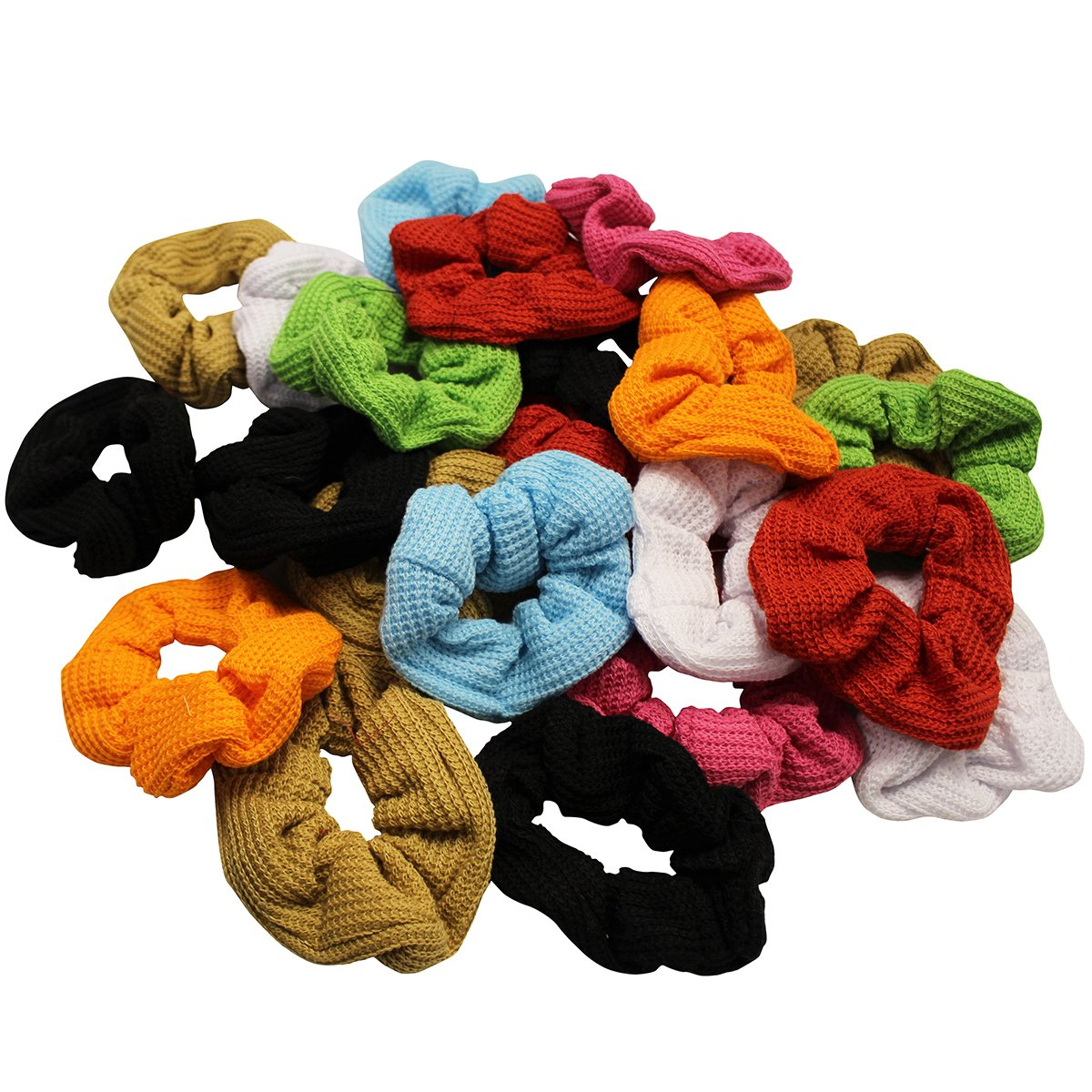 CoverYourHair Scrunchies for Hair - Colorful Scrunchies - Scrunchy Hair Ties - Assorted Hair Accessories by