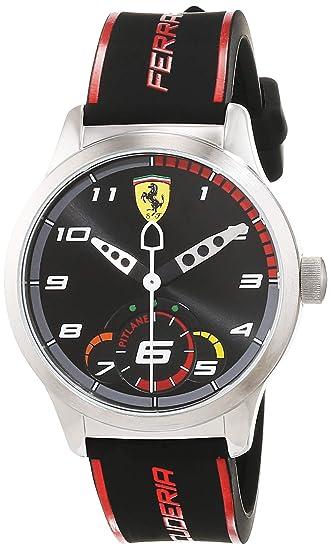 Scuderia Ferrari Reloj de pulsera Analógico Para Unisex Niños de Cuarzo con Correa en Silicona 860003: Amazon.es: Relojes