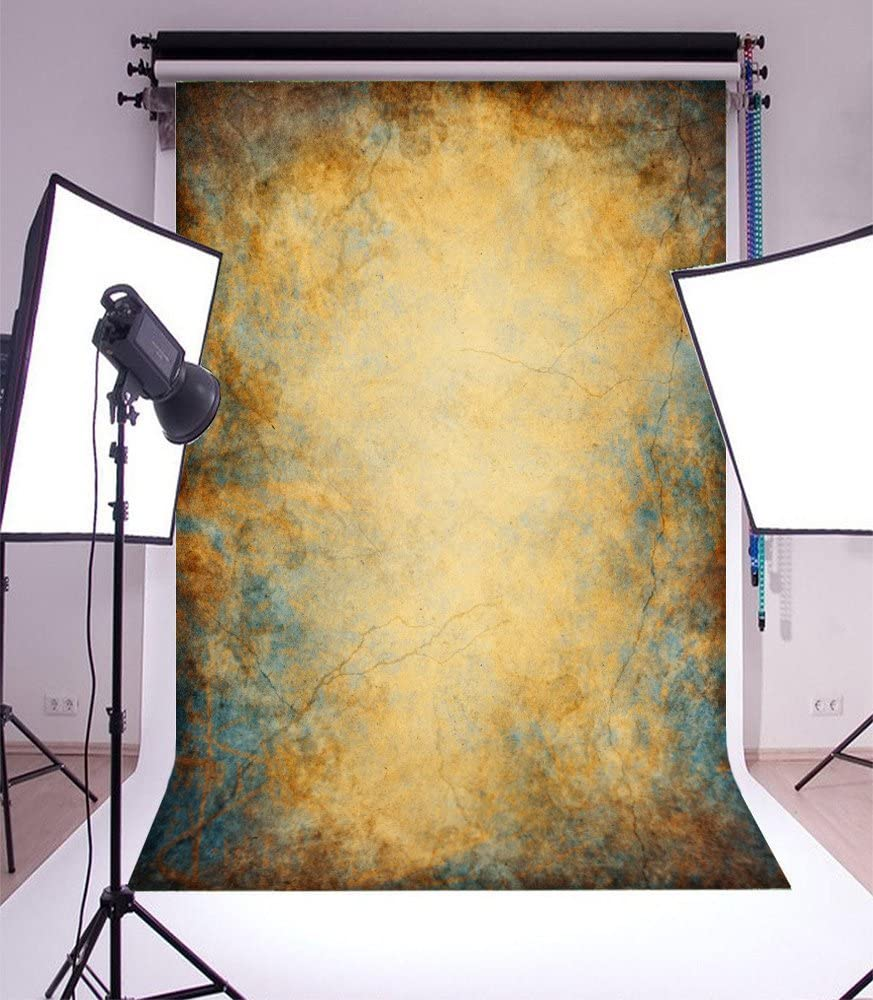 Laeacco Abstract Background 5x7ft Retro Texture Graffiti Abstract Grunge Kraft Wallpaper Brown Backdrop Photography Background Kids Adults Photo Studio Props