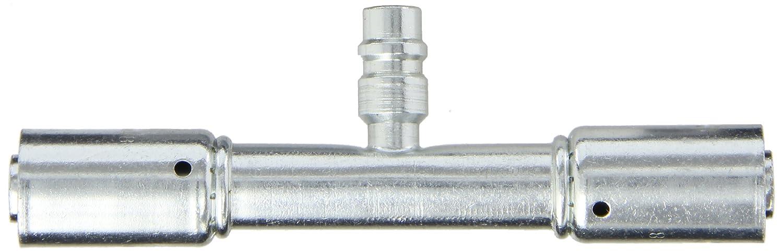 EATON Weatherhead Coll-O-Crimp 75710E-Y49 Hose Splicer Fitting W//R134a Service Port Carbon Steel 1//2 Hose ID 1//2 Hose ID