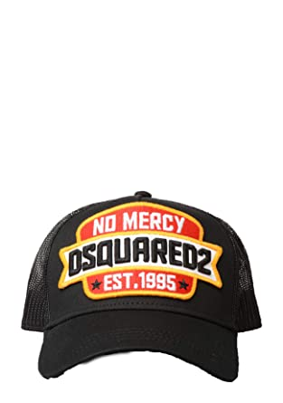 0c7dd0f4293 DSQUARED2 - BCM0089 no Mercy Patch Baseball Cap in Black  Amazon.co.uk   Clothing