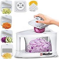 Mueller Spiral-Ultra Multi-Blade Spiralizer, 8 into 1 Spiral Slicer, Heavy Duty Salad Utensil, Vegetable Pasta Maker and Mandoline Slicer for Low Carb/Paleo/Gluten-Free Meals