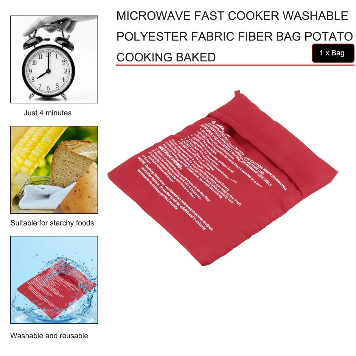 Sunnyflowk Microondas Cocina rápida Tejido de poliéster ...
