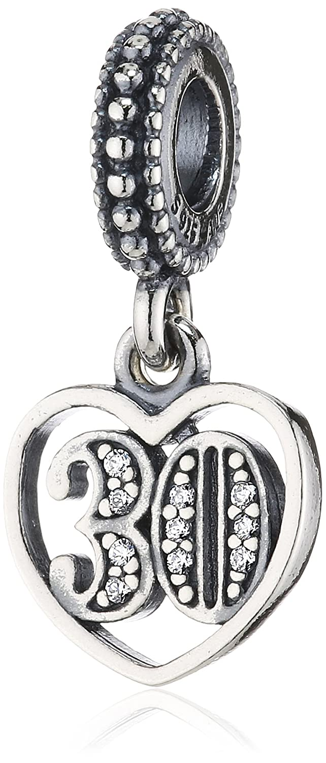 Amazoncom Pandora 791287cz 30 Years of Love Charm Jewelry