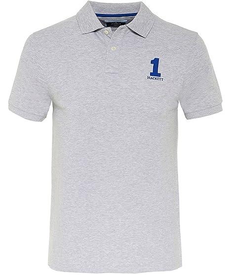 a72358af779 Hackett Men's Classic Fit New Classic Polo Shirt Light Grey XL ...