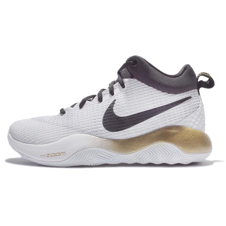 1cb3967fe36c (ナイキ) ズーム レブ メンズ バスケットボール シューズ Nike Zoom Rev EP 852423-107  並行輸入品   B071SCZ292 26.5 cm WHITE BLACK-METALLIC GOLD EP- ...