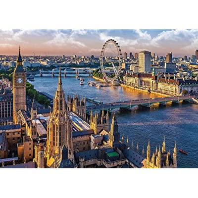 Puzzle 1000 Piece Jigsaw Puzzle for Adults,Bzdthh,Landscape Poster London,Every Piece is Unique,Pieces Fit Together Perfectly: Toys & Games