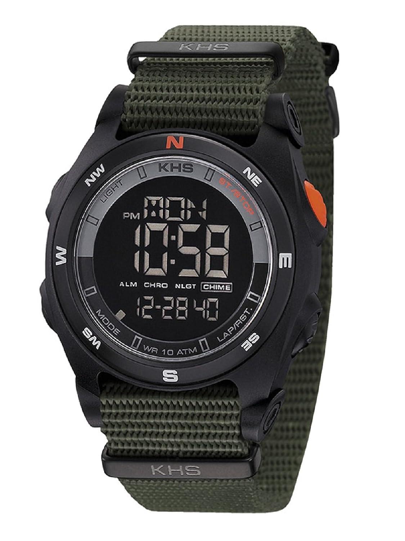 KHS Herrenuhr Sentinel DC Black | Nato Olive Chronograph KHS.SEDCB.NO