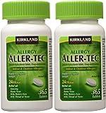 Kirkland Signature slOGsL Aller-Tec Cetirizine HCL 10 mg Antihistamine, 365 Tablets (2 Pack)