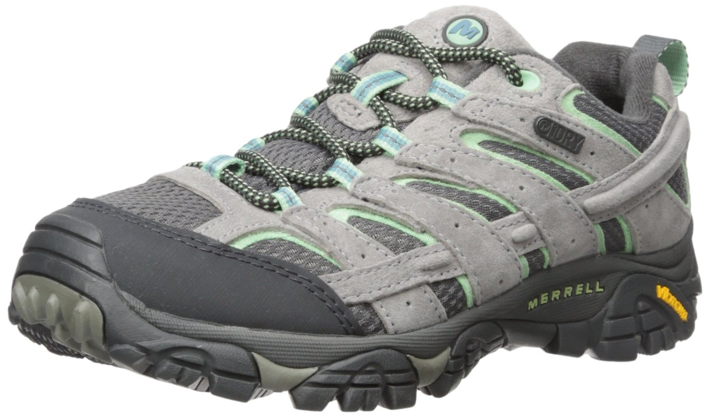 Merrell Women's Moab 2 Waterproof, Drizzle/Mint, 6 M