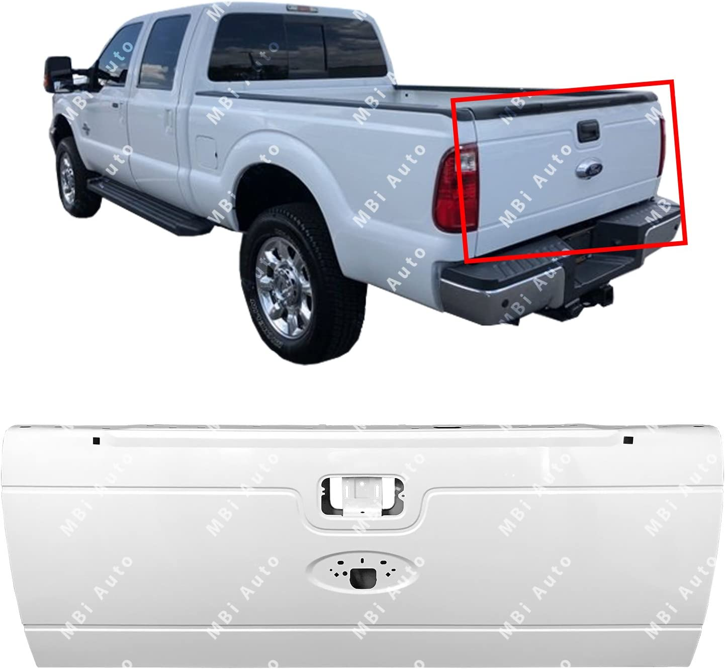 Amazon Com Mbi Auto Painted Yz Z1 Oxford White Steel Tailgate Shell For 2008 2016 Ford F250 F350 Super Duty 08 16 Fo1900125 Automotive