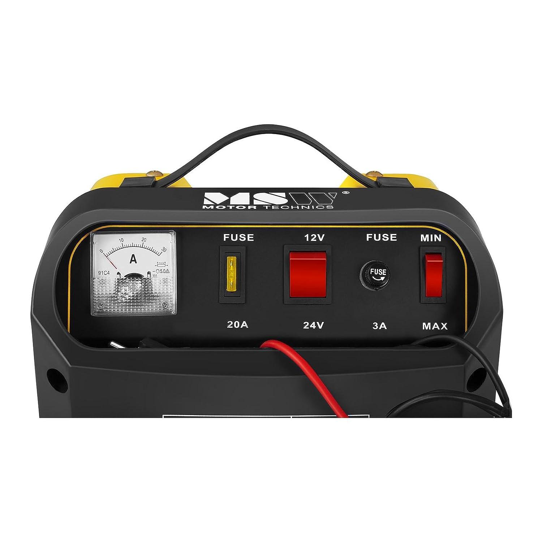 MSW Cargador de batería Coche S-CHARGER-50A.3 (Ayuda de Inicio, 12/24 V Tensión de Carga, 20/30 A Corriente de Carga, para baterías: 20-300 Ah): Amazon.es: ...