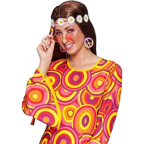 NET TOYS - Accessori per costume da Hippie degli anni  70 70b6c8a91d6