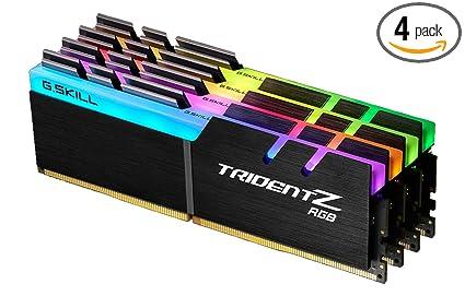 G Skill 32GB DDR4 TridentZ RGB 3600Mhz PC4-28800 CL16 1 35V Quad Channel  Kit (4x8GB) for Intel Z270