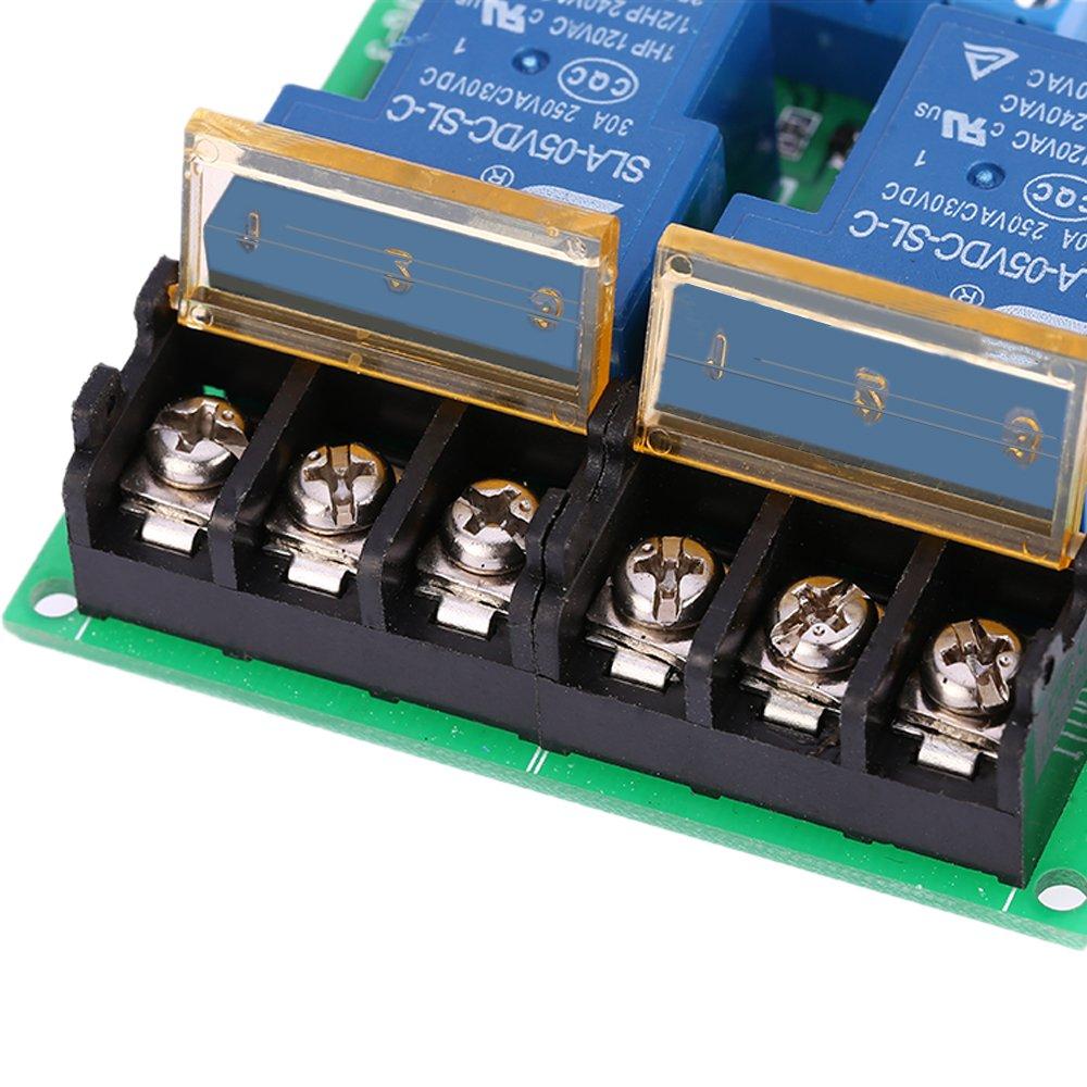 Kkmoon 2 Kanal Dc 5v 30a Relay Board Modul Optokoppler Isoliert High Dc5v To Dc30v Converter By 74hc14 Low Trigger Relais Baumarkt