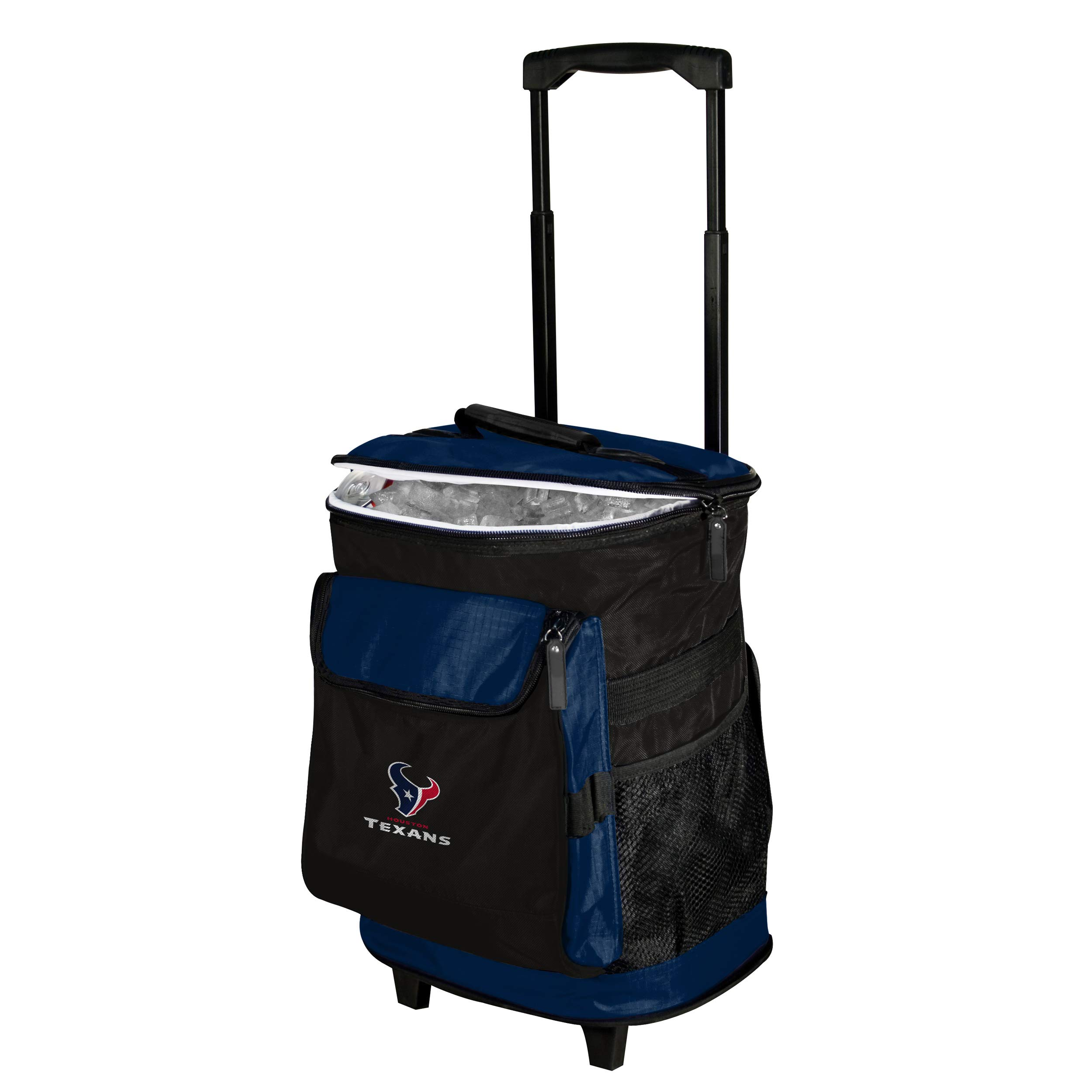 Logo Brands Houston Texans 48-Can Rolling Cooler with Wheels and Backpack Straps