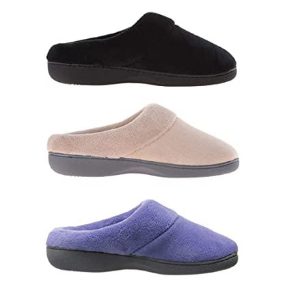 abfcf8536f01 ... ISOTONER Women s Terry Slip On Cushioned Slipper with Memory Foam for  Indoor Outdoor Comfort and ...
