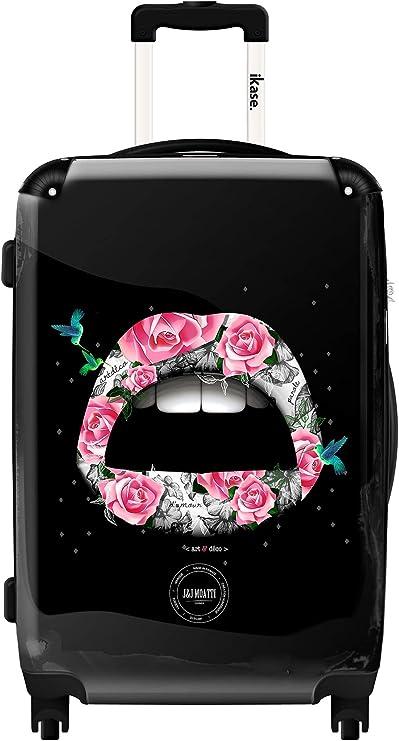 Ikase Hardside Spinner Luggage Pink Lips