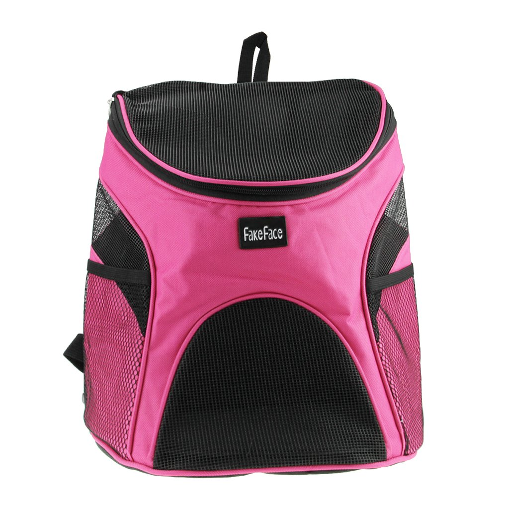FakeFace Pet Dog Cat Puppy Soft-sided Mesh Carrier Backpack Pup Front Chest Back Pack w/ Comfortable Adjustable Shoulder Straps Outdoor Travel Cat Little Dog House for Small Dogs Cats Carrier Tote Bag by Fakeface