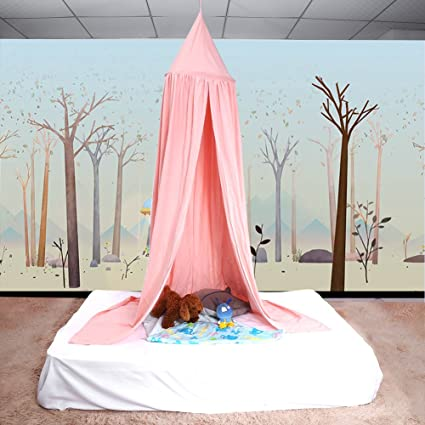 ZJchao Children Bed Canopy Round Dome Mosquito Net Hanging Curtain Baby Kids Bedroom Accessories (Pink) Amazon.co.uk Kitchen u0026 Home & ZJchao Children Bed Canopy Round Dome Mosquito Net Hanging Curtain ...