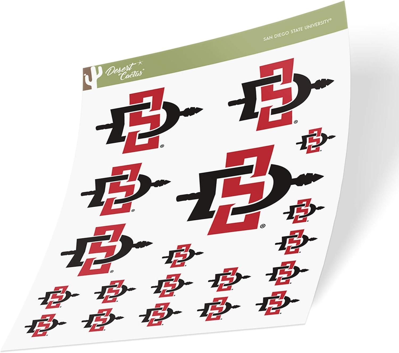 San Diego State University SDSU Aztecs NCAA Sticker Vinyl Decal Laptop Water Bottle Car Scrapbook Sheet Type 3-1