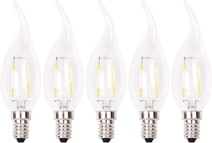 XQ-lite XQ1403 Bombilla LED , Vela, E14, 2 W, Luz blanca