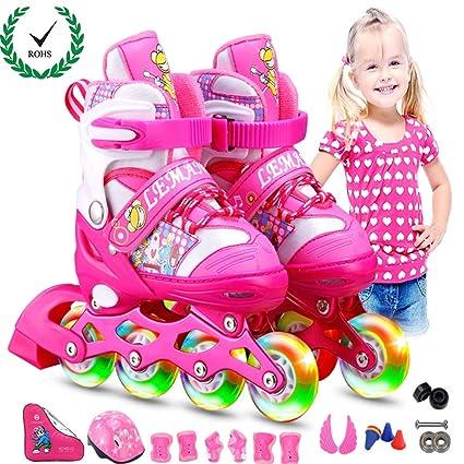 Kinder Inliner Größenverstellbar Inline Skates Unisex Rollschuhe Rollerskater DE